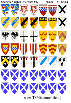 28mm Shield Sticker 100 Years War #01 Scottish Knights Otterburn
