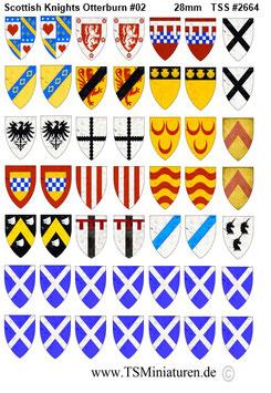 28mm Shield Sticker 100 Years War #01 Scottish Knights Otterburn