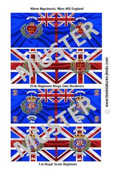 40mm Fahnen Napoleon #02 England Infanterie