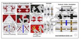 1:72 Mittelalter Teutonic Banner #05