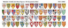40mm Schildaufkleber Mittelalter #02 Europäische Ritter