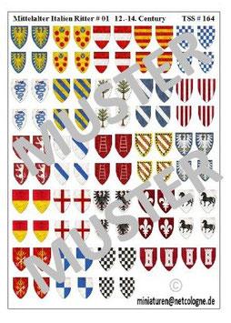 1:72 Mittelalter 13.th - 14th Century #01 Italien Ritter