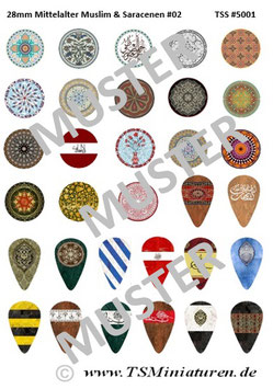 28mm Shield Sticker Muslims #02