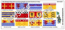 1:72 Mittelalter 100 Jähriger Krieg #10 Crécy Luxemburg Ritter
