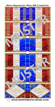 40mm Fahnen Napoleon #04 Frankreich Infanterie