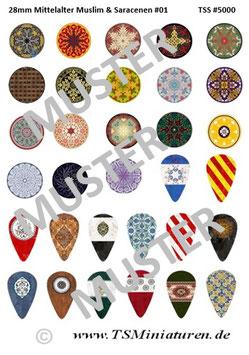 28mm Shield Sticker Muslims #01