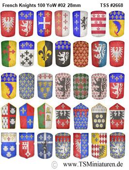 28mm Shield Sticker 100 Years War #02 French Pavesen