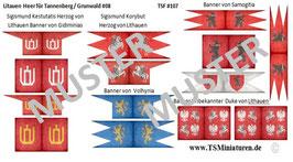 1:72 Mittelalter Litauen Banner #08