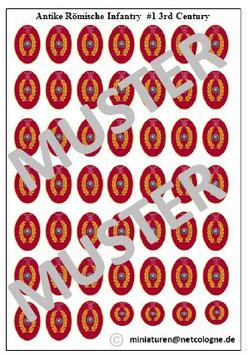 1:72 Schilde Römische Infanterie #01
