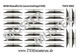 1:72 WWI Deutsche Kavallerie Lanzenwimpel #01