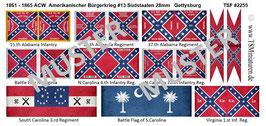 28mm American Civil War #13 Südstaaten Gettysburg