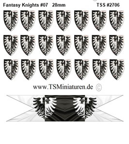 28mm Fantasy Shield Sticker #07