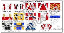 1:72 Mittelalter Swiss Burgundian War #02 Schweizer Ritter