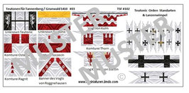 1:72 Mittelalter Teutonic Banner #03