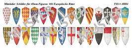 40mm Schildaufkleber Mittelalter #04 Europäische Ritter