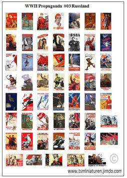 1:72 WWII Propaganda Plakate #03 Russland