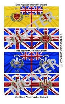 40mm Fahnen Napoleon #01 England Infanterie