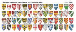 40mm Schildaufkleber Mittelalter #03 Europäische Ritter
