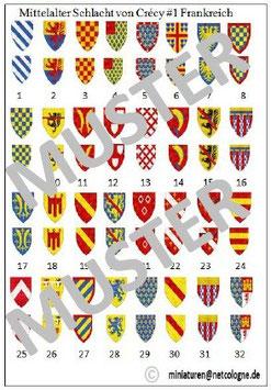 1:72 Mittelalter Französische Ritter für Crecy #01