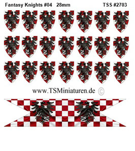 28mm Fantasy Shield Sticker #04