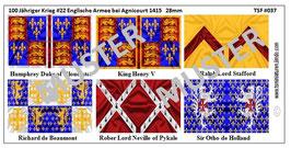 28mm Die Schlacht von Agnicourt #02 England