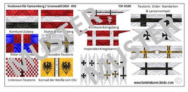 1:72 Mittelalter Teutonic Banner #01