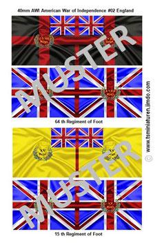 40mm Fahnen AWI #02 England Infanterie