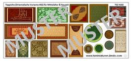 1:72 Mittelalter Muslim & Saracenen Teppiche #03