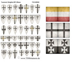 28mm Shield Sticker Teutonic Knights #01