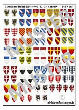 1:72 Mittelalter 13.th - 14th Century #02 Italien Ritter