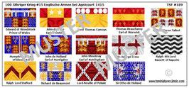 1:72 Mittelalter 100 Jähriger Krieg #15 Agnicourt Englische Ritter