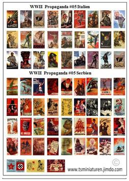 1:72 WWII Propaganda Plakate #05 Italien & Serbien