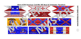 40mm Fahnen ACW #05 Unions & Konföderierte Kavallerie