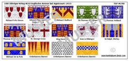 1:72 Mittelalter 100 Jähriger Krieg #16 Agnicourt Englische Ritter