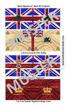 40mm Fahnen Napoleon #03 England Infanterie
