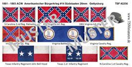 28mm American Civil War #14 Südstaaten Gettysburg