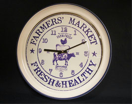 時計 壁掛け時計 オシャレ 丸 アンティーク 掛時計 カントリー ホーロー カフェ クラシック ウォールクロック 75027WC