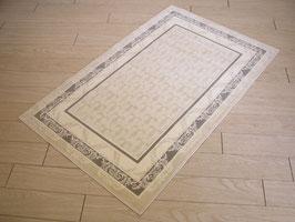 カーペット ラグ おしゃれ 洗える 長方形 綿 コットン フランス製 スタイルフランス 66×107 cm 玄関マット 綿100% TRINITY LIN