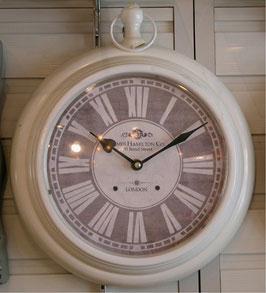 掛時計 ウォールクロック 丸 ラウンド ホワイト 白 アンティーク調 75003WC