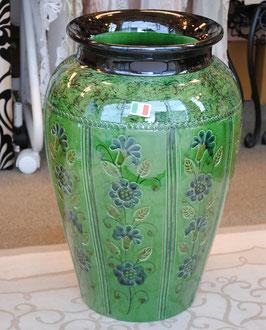 傘立て アンブレラスタンド 壺 つぼ 陶器 グリーン 緑色 花柄 イタリア製 italy 534048