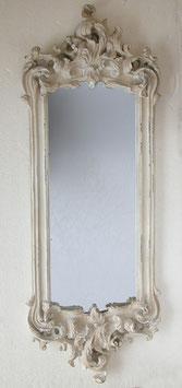 ミラー オシャレ クラシック 長方形 壁掛け鏡 白 ホワイト アンティーク調 スクエアー ウォールミラー 883000