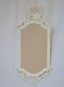ミラー 壁掛け鏡 おしゃれ 長楕円形 ウォールミラー 白 ホワイト シャビーシック クラシック アンティーク 883015 WH