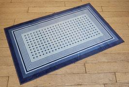 カーペット ラグ ドット おしゃれ 洗える 長方形 綿 コットン フランス製 スタイルフランス 66×107 cm 玄関マット 綿100% CARLOTTA BLEU