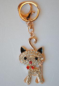 チャームホルダー かわいい キラキラ ねこ 猫 キャット cat キーホルダー バッグチャーム ラインストーン 48334KH