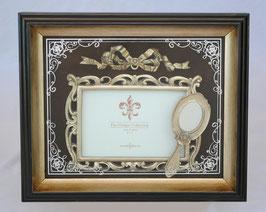 リボンフォトフレーム 薔薇 バラ 手鏡 ハンドミラー デコパージュ デコレーションフォトフレーム フォトフレーム 写真額 おしゃれ 壁掛け クラシック フォトディスプレイ アートフレーム インテリア アンティーク風 フレンチ 1383190