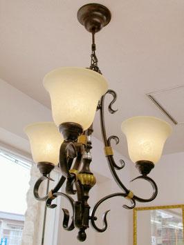 シャンデリアランプ 3灯 シャンデリア 照明器具 ランプ ガラスシェード NO.7707000
