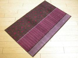 カーペット ラグ おしゃれ 洗える 長方形 綿 コットン フランス製 スタイルフランス 66×107 cm 玄関マット 綿100% Hounde violet figue
