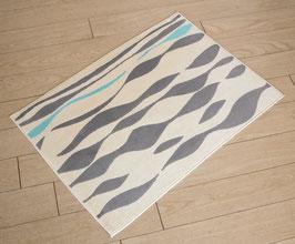 カーペット ラグ おしゃれ 洗える 長方形 綿 コットン フランス製 スタイルフランス 玄関マット 綿100% 50x70 cm MEDUSA AQUA