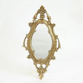 デコレーションミラー ゴールドミラー 鏡 かわいい 壁掛け アンティーク風 フレンチ風 フランス風 1383147 GD
