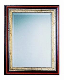 ウォールミラー おしゃれ 鏡 壁掛け 長方形 スクエア 木製 ミラー RT 茶 金 アンティーク イタリア製 ベルトーチ BERTOZZI 808111
